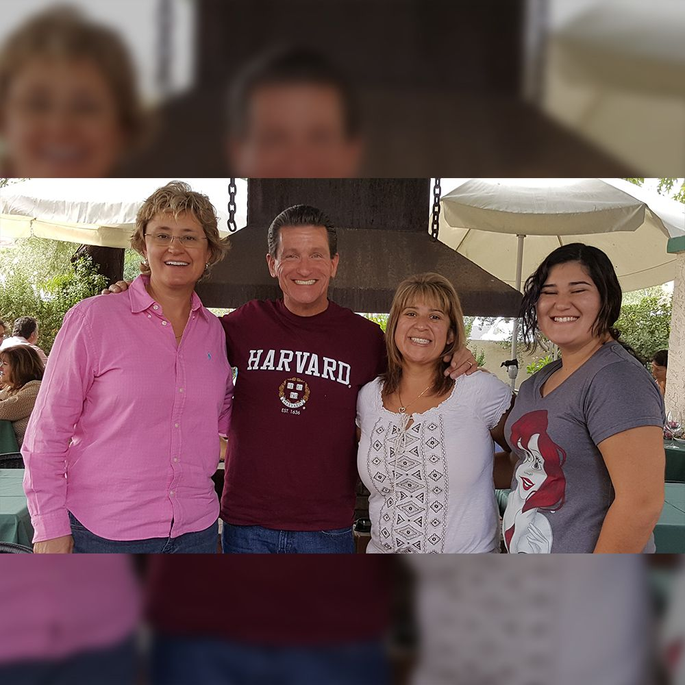 My probation officer Jennifer Adams with me and my family in 2016.