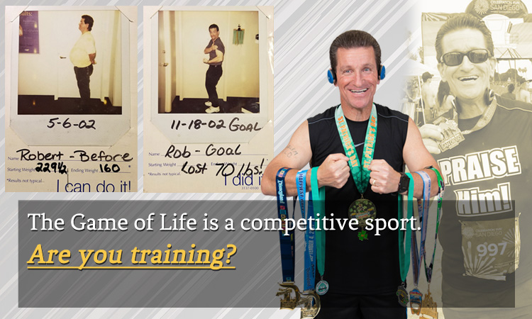 Fitness and running medals - Rob Rowsell changed to a healthy lifestyle and lost weight.