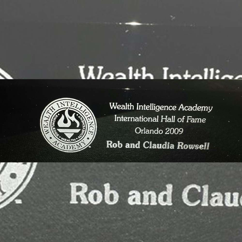 Hall of Fame Trophy engraving