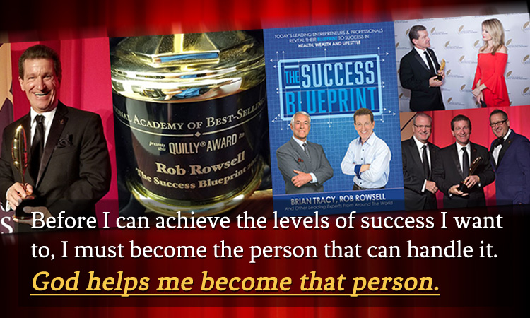 Award winning author of The Success Blueprint and Addicted to Life Rob Rowsell.